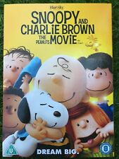 Snoopy and Charlie Brown Peanuts Movie ~ 2015 Family Film UK DVD with Slipcover