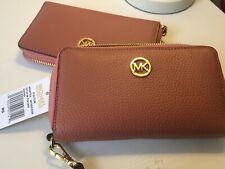 Michael Kors clutch bag Lady's ZIP LEATHER PHONE CASE Wallet antique Rose