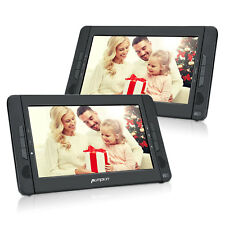 "10.1"" Dual Screen Portable DVD Players Car Headrest for Kids Rechargeable USB SD"