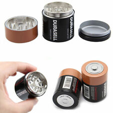 3 Layer Battery Tobacco Grinder Herbal Herb Smoke Spice Crusher Hand Muller Gift