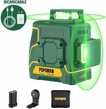 Livella laser Verde 45m, 2x360°  USB Ricarica - 5200 mAh batteria al litio