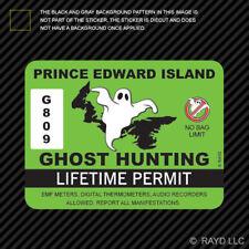 Prince Edward Island Ghost Hunting Permit Sticker Decal Vinyl Canada hunter pe