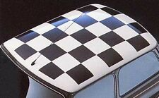 mini bmw roof sqaures kit chequered flag graphic 22 times 235mm by 235mm square