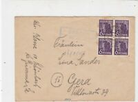 Germany 1947 Allied Occupation to Thuringia Grimma Cancel Stamps Cover ref 23208