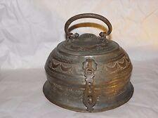 Antique 1800's Copper Hand Rare Mughal Islamic Carved Betel Nut Pandan Box