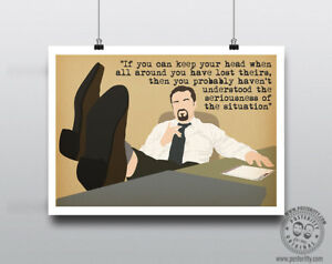 DAVID BRENT (If you can keep your head)  Minimalist Poster Art Posteritty Office