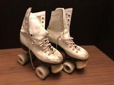 Vintage Sure-Grip Jogger White Leather Roller Skates Women Size 4 FREE SHIP!!!