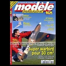 MODELE MAGAZINE N°704 HAWKER HURRICANE ALPHAJET MACCHI M33T-REX 250 ★ PLAN ★