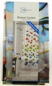 "Rainbow Aquatic Fish ~ Shower Curtain ~ 70"" X 72"" ~ Mainstays ~ 100% PEVA"
