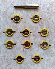 10 Piles de rechange CR1616 + Gamebit - Pokemon Rouge, Rubis... Game Boy - save