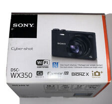 Sony DSC-Wx350 Digital Camera Power Cord Battery & Memory Card in Original Box
