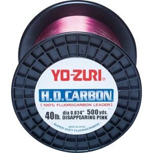 Yo-Zuri HD Carbon 500yd Fluorocarbon Leader Disappearing Pink