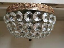 Plafonnier lampe Montgolfière vintage ,  à pampilles