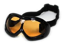 Kinder Snowboard u. Skibrille 2BL in Schwarz / UV Schutz / Antibeschlag