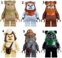 Star Wars Universe Forest Ewok  Soldier Custom Lego Mini Figure Teddy Bear Guard