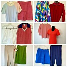 Vintage Clothing Lot of 12 Womens 1980s Tops Shorts Pants Dress Skirts Lb