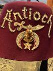 VTG Masonic Shriners Fez - Antioch - Rhinestone Tassel Pin - zippered case