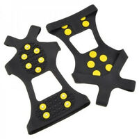 ICE SNOW GRIP GRABBERS ANTI- SLIP CRAMPONS SHOES COVER GRIPPERS SPIKES (LSIZE)