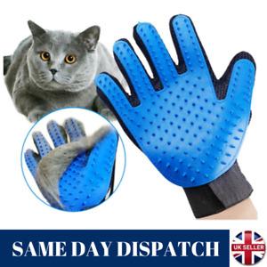 Pet Dog Cat Grooming Glove Deshedding Brush Fur Remover Mitt Left Right Hand UK