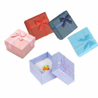 Hot Sell Lots 5 Pcs Jewellery Jewelry Gift Box Case For Ring Square Colorful PR