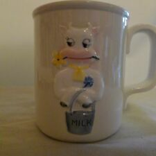 Vintage Buttercup for Shafford B.S.J. 1979 Ceramic Mug w/ 3D Cow Milk Pail