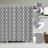 Bathroom Shower Curtain Waterproof Polyester Fabric Hotel Sheer Panel Decor AU