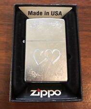 Zippo Lighter Love Hearts Engraved 2006 Design