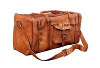 "-30"" Men's Vintage EXTRA LARGE Leather Gym Weekender Luggage Travel Duffle Bag"