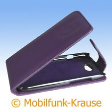 Flip Case Etui Handytasche Tasche Hülle f. HTC One S (Violett)
