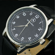 Fashion Benz Watch Mens Watch Stainless Steel Black Leather Strap