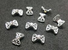 BOWS DIY 3D Nail Art Decoration Bows Flowers Roses Rhinestone Gems Stickes UK#1