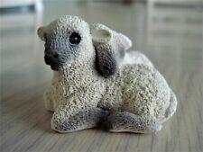 Rare Vintage Stone Critters Cuddling Lamb Pair Scl-150 w/ Orig. Box