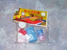 Dime Store Toy Miniature Bedroom Set Furniture Made in Hong Kong 1960s NOS