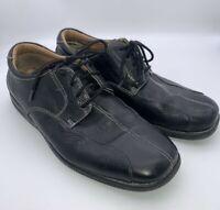 Dockers Prostyle Split Toe Oxfords Men's 8.5 M Black Leather Shoes 090-4664