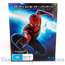 SPIDER-MAN Movie Trilogy (Blu-ray, 2007, 3-Disc Set) + Special Feature PS3 Comp
