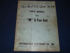 """""""M"""" 5-TON 6X6 ARMY TRUCK PARTS BOOK MANUAL"""