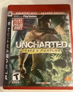 Uncharted Drake's Fortune PlayStation 3 PS3 Video Game FREE SHIPPING