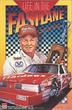 "1987 VINTAGE CALE YARBOROUGH ""HARDEE'S LIFE IN THE FASTLANE"" #28 NASCAR POSTCARD"