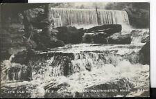 the old mill,route 2,westminster,massachuset ts postcard dated 1954