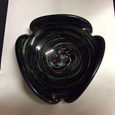 Marano Glass mid century ashtray/ candy dish swirled colors  ( ZZ S 2 )