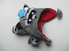 NWT The Childrens Place Raccoon Lined Knit Hat and Mittens Size XS  6-12 months