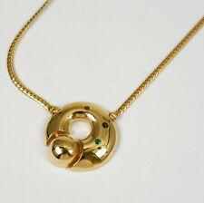 Collier in 333 oro con rubino, zaffiro e smeraldo