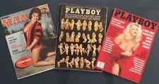 Vintage Playboy magazines Feb94 Mar73  & Modern Man Feb63