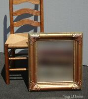 Vintage French Provincial Syroco Square Gold Wall Mantle Mirror