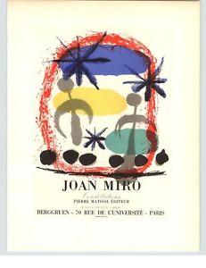1959 Mini Poster Joan Miro Lithograph ORIGINAL Print Constellations Burggruen
