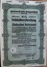 2 different German 4.5% bonds dated 7/1940 City of Stettin. Poland now