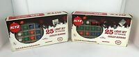 Ritz 2x25 Christmas Tree Lites Multicolor Lights Outdoor Vintage New Old Stock
