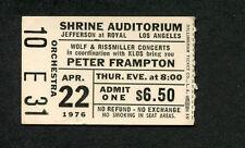 1976 Peter Frampton Comes Alive concert ticket stub Shrine Los Angeles
