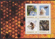 Postfr. Briefmarkenblock mit 4 PM mit je einem BIENENMOTIV, Nennwert je 0,80 €