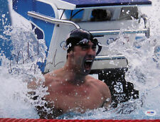 Michael Phelps Signed 08 Olympics 11x14 Photo PSA/DNA